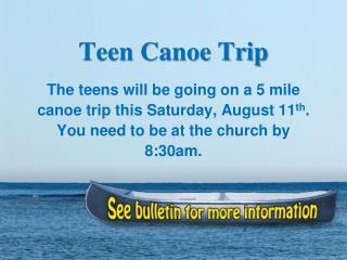 Teen Canoe Trip