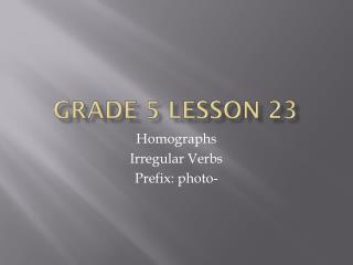 Grade 5 Lesson 23