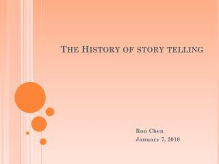 The History of story telling