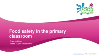 Food Safety in the Classroom