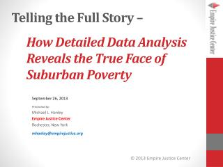 How Detailed Data Analysis Reveals the True Face of Suburban Poverty