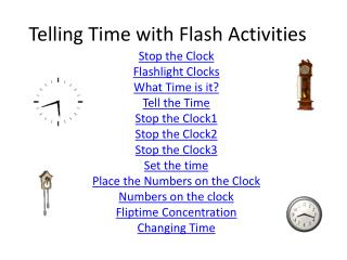 Telling Time with Flash Activities