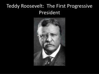Teddy Roosevelt:  The First Progressive President