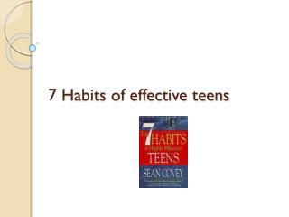7 Habits of effective teens