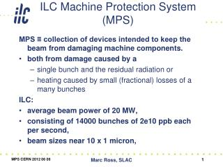 ILC Machine Protection System (MPS)