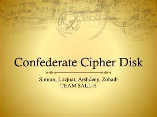 Confederate Cipher Disk