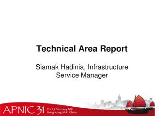 Technical Area Report