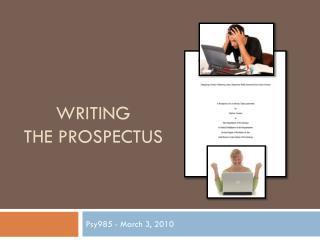 Writing  the  Prospectus