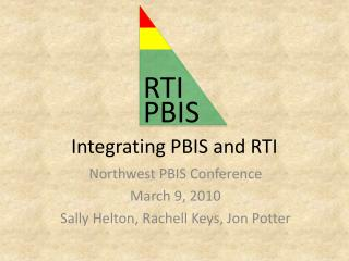 Integrating PBIS and RTI