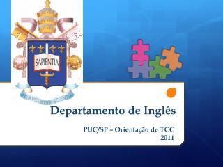 Departamento de Inglês
