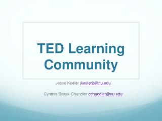TED Learning Community