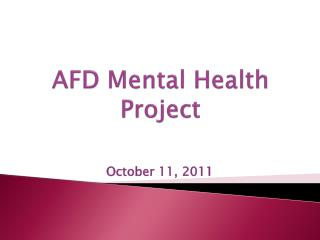 AFD Mental Health Project