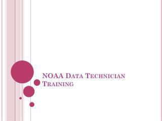 NOAA Data Technician Training