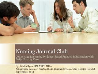 Nursing  Journal  Club