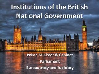 Institutions of the British National Government
