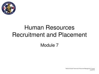 Human Resources Recruitment and Placement