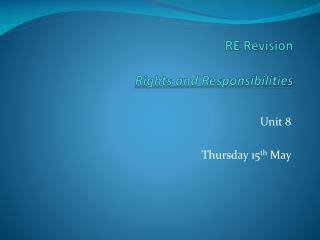 RE Revision  Rights and Responsibilities