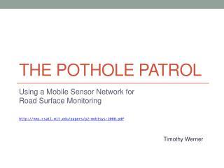 The Pothole  Patrol