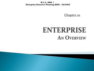 ENTERPRISE  A N  O VERVIEW