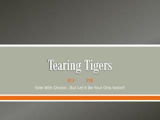 Tearing Tigers