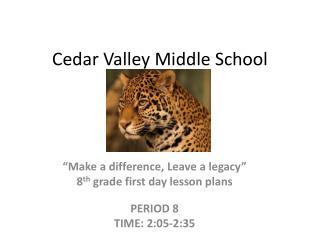 Cedar Valley Middle School