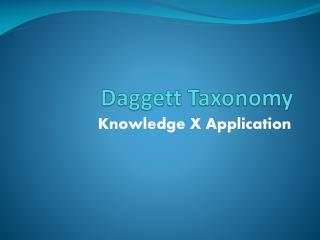 Daggett Taxonomy