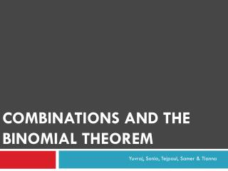 Combinations and the Binomial Theorem