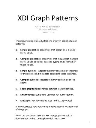 XDI Graph Patterns