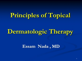 Basic principle of medical dermatology:   If it s dry, wet it.   If it s wet, dry it.
