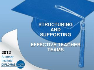 Structuring  and  supporting  effective teacher teams