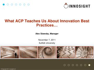 What ACP Teaches Us About Innovation Best Practices…