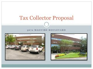 Tax Collector Proposal