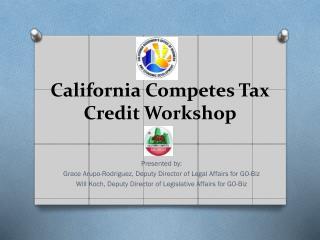 California Competes Tax Credit Workshop