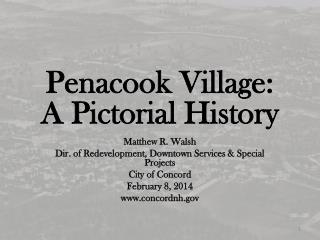 Penacook Village: A Pictorial History
