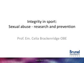 Integrity in sport: Sexual abuse - research and prevention