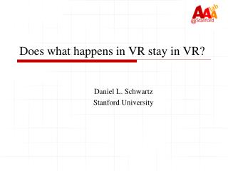 Does what happens in VR stay in VR?