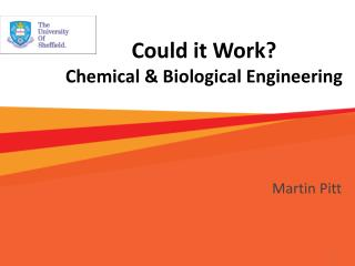 Could it Work? Chemical & Biological Engineering