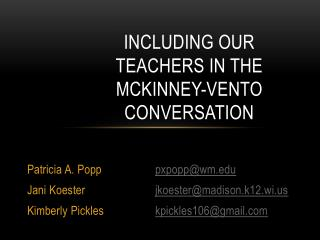 Including Our Teachers in the McKinney-Vento Conversation