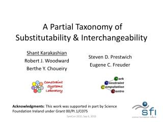 A Partial Taxonomy of Substitutability & Interchangeability