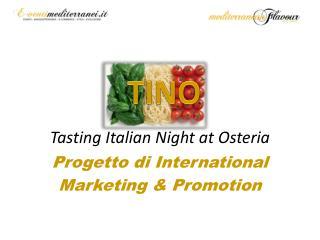 Tasting Italian  Night at Osteria