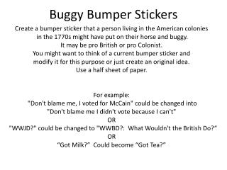 Buggy Bumper Stickers