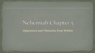 Nehemiah Chapter  5