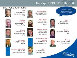 SSC TASK GROUP REPS