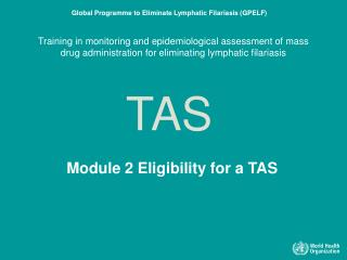 Module 2 Eligibility for a TAS