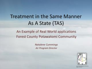 Treatment in the Same Manner As A State (TAS)