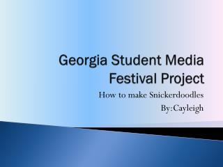 Georgia Student Media Festival Project