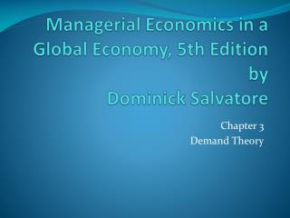 Managerial Economics in a Global Economy, 5th Edition by Dominick Salvatore