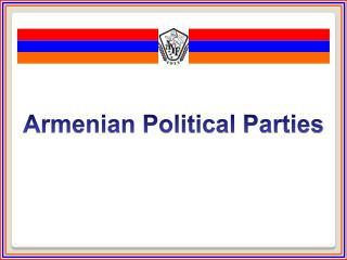 Armenian Political Parties