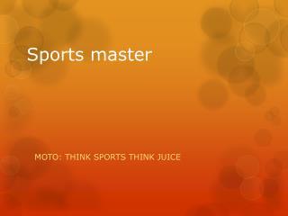 Sports master
