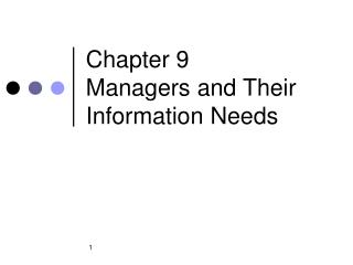Chapter 9 Managers and Their Information Needs